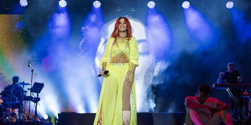 Performing in Tirana, Albania (03.06)